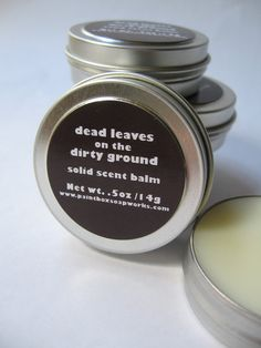 Dead Leaves on the Dirty Ground Solid Scent Balm - Dry Leaves, Bonfire Smoke, Frost... NEW VEGAN FORMULA