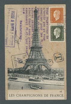 Original Mail Art 'Paris and Egypt' by Nick Bantock