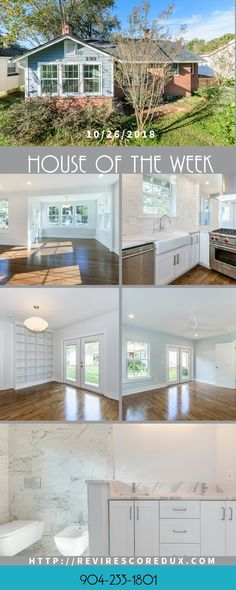 Terrific reno in San Marco neighborhood of Jacksonville, FL.  The use of white was stunning.  And to think it's a historically registered home!