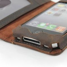 5 in 1 Genuine Handmade Leather Case for Iphone 4 / iphone 4s