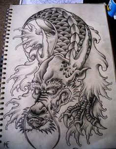 Japanese Dragon by Frosttattoo on @DeviantArt More