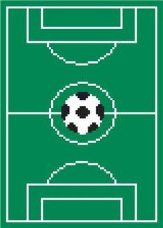 Soccer field afghan blanket pattern  chart by jojoroseanne on Etsy