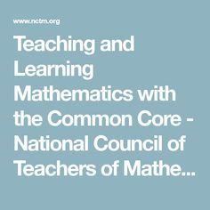 NCTM and the Hunt Institute have produced a series of videos on Teaching and Learning Mathematics with the Common Core to enhance understanding of the mathematics that students need to succeed in college, life, and careers. Math Movies, Math Practices, Mathematics, Core, Positivity, Teacher, Student, Learning, Math