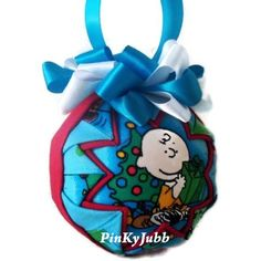 CHARLIE BROWN and SNOOPY Christmas time Quilted Ornament