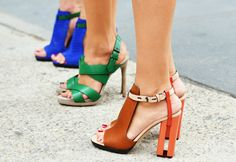 Shoes with interesting lines and bright colours. Love!