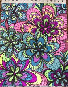 ColorIt Colorful Flowers Volume 1 Colorist Marlene Greenberg Lamancuso Adultcoloring Coloringforadults