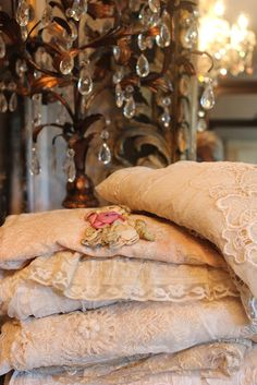 beautiful antique bed coverings