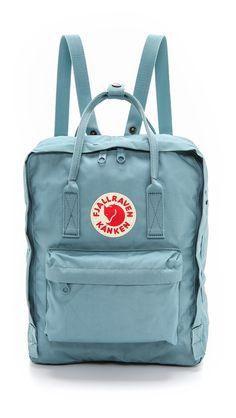 Fjallraven Kanken Backpack in Sky Blue Mochila Kanken, Backpack Purse, Kanken Backpack, Adidas Backpack, Rucksack Bag, Cute Backpacks, School Backpacks, Cute Bags, Fashion Bags