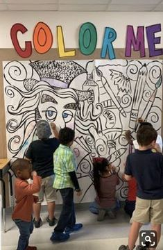 40 Ideas Elementary Art Room Ideas Middle School For 2019 Middle School Art, Art School, Arte Elemental, Collaborative Art Projects, Group Art Projects, Culture Art, School Murals, Ecole Art, Art Classroom