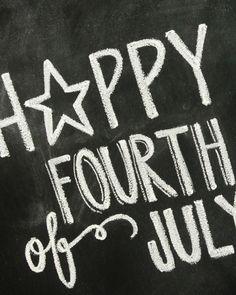 Fourth of July chalkboard print. Chalkboard Print, Chalkboard Designs, Chalkboard Ideas, Chalkboard Sayings, Happy Fourth Of July, 4th Of July Party, July 4th, Chalk It Up, Chalk Art