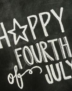 Fourth of July Chalkboard Print