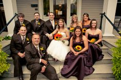Garden Wedding Venue | Chocolate Brown Bridesmaids Dresses and Groomsmen Suits  - Photo: Brandon Chesbro