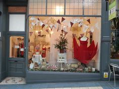 The Bridal Emporium window display December 2014 Bunting, Christmas tree