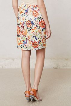 Dayflora Stitched Skirt - Anthropologie.com
