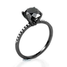 1.30 Ct Genuine Natural Black Diamond Engagement Ring 14k Black Gold Batella Diamond & Jewelry,http://www.amazon.com/dp/B00CR13J4E/ref=cm_sw_r_pi_dp_wfbasb0DQK76FZYZ