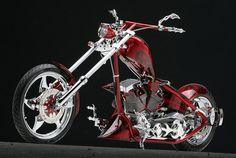 Nice Red Custom Chopper