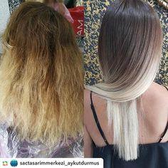 Değişime inananları böyle alalım  #olaplex  @sactasarimmerkezi_aykutdurmus #olaplex #olaplextr #olaplexturkey #olaplexturkiye #olaplextreatment #olaplexlove #olaplexhair #hair #treatment #haircare #blonde #healthyhair #transformation #hairtransformation #beforeandafter