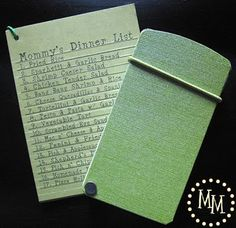 Simple Meal Plan System -> Takes some initial work but then super easy to use!