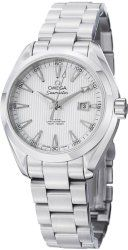Omega Men's 231.10.34.20.04.001 Aqua Terra Ladies Automatic 34mm Analog Display Swiss Automatic Silver Watch