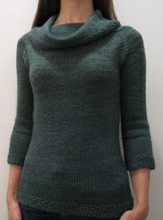 Free Knitting pattern for Francis Revisited Sweater - Love cowl necks! Pullover sweater features a cowl neck, seed stitch details, and elbow length sleeves. Top down construction that's a fairly easy pattern. Designed by Beth Silverstein Sizes: XS (S, M, L, 1X, 2X, 3X). Pictured project by adrienneknits