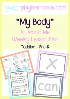 My Body Lesson Plan : All About Me Crafts and Activities for Preschoolers and Toddlers