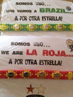 Bracelet design by Elena Tablada for the World Cup in Basil. www.ishopetna.com