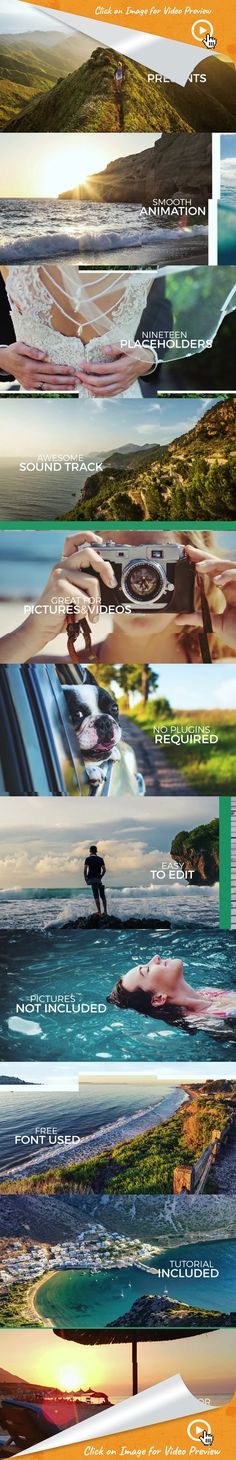 bright, dynamic, elegant, fun, gallery, happy, inspiring, intro, memories, modern, opener, positive, simple, slideshow, summer, after effects templates, after effects ideas, after effects intro, after effects intro, after effects motion graphics, intro ideas youtube, after effects projects, videohive projects Description:  A bright, modern slideshow with a clean and elegant design. It can be used as an opener, intro, wedding video display, fashion or travel gallery, etc.   Features:   19…