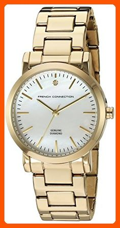 French Connection Women's 'Catherine Diamond' Quartz Metal and Stainless Steel Watch, Color:Pink (Model: FC1250GM) - All about women (*Amazon Partner-Link)