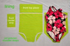 swimsuit tut  how to make a pattern from an old swim suit