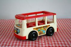 vintage 1969 fisher price MINI BUS FP141 by LittleMsTips on Etsy, $18.00