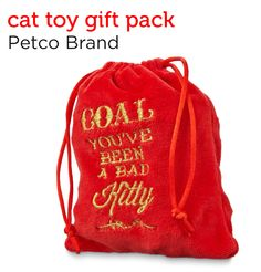 Surprise your feline friend with a coal bag full of cat toys from Petco's Holiday Gift Guide.