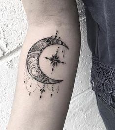 Wonderful crescent moon by Justin Hobson #beautytatoos