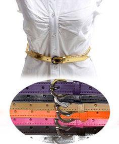 Solid Color Leather Skinny Braided Belt $3.99 #bestseller