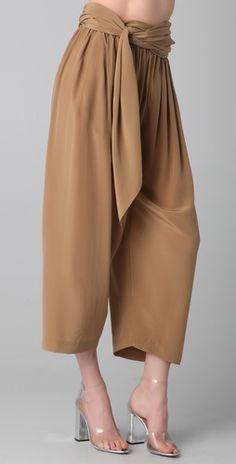 3.1 Phillip Lim Waist Tie Gaucho Pants
