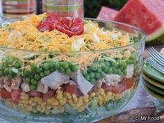 Essa é uma salada boa para ser feita no fim de semana. Com a casa cheia, é uma boa...