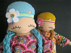 Peaceful Patsy  Flower Child Rag Doll  MADE by rileyconstruction, $48.00