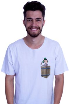 Camiseta Masculina  Bolso Chaves QQY