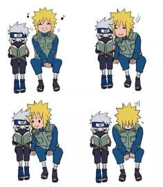 Minato disappointed to find out what kakashi is reading / kakashi not noticing minato