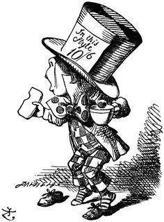 John Tenniel illustration, for Alice in Wonderland by Lewis Carroll. he bit… John Tenniel, Lewis Carroll, Alice In Wonderland Party, Adventures In Wonderland, Mad Hatter Pictures, Mad Hatter Day, We All Mad Here, Alice In Wonderland Illustrations, Chesire Cat