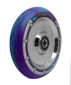 Pair Hollow Core 100mm Black Chrome Stunt Scooter Wheels Mixed PU NEW 2018