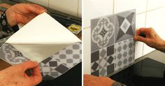 & & & & Fake Tile & True Test : Our Opinion On The Crdence Adhsive Smart Tiles Smart Tiles, Credence Adhesive, Diy Décoration, Little Houses, Home Staging, Modern Decor, Kitchen Decor, Projects To Try, Sweet Home