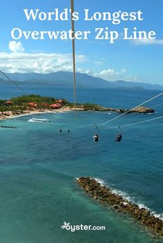 If you're a medium-range thrill seeker -- and by that we mean you're not quite ready to go skydiving or bungee jumping, but you're game for a good adrenaline boost -- you might want to book a trip to Labadee, Haiti. The popular cruising destination is home to the world's longest overwater zip line that sends riders on a 2,600-foot-long ride at speeds up to 50 m.p.h. Want to preview the ride? Take a look at the first-person video below.
