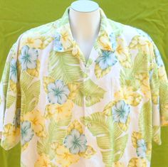 vintage shirt 1980s Hawaiian mens floral by BornToShopVintage, $29.99