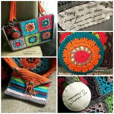 A few years ago I crocheted a hippie bag with a small wallet. It was a fun gift to make. Maybe I have to make one for myself too 😊  #hekling #crochet #hippie #wallet #snoravndesign
