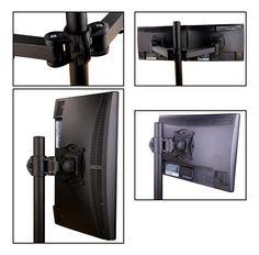 """Inotek AMA DC 130 Support ergonomique de bureau pour écrans informatiques LCD/LED 13"""" à 27"""": Amazon.fr: Cuisine & Maison"""