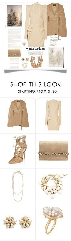 """Winter Wedding"" by terry-tlc ❤ liked on Polyvore featuring Line, Aquarelle, Willow, Jimmy Choo, Chanel, Lanvin, Miriam Haskell, Ross-Simons, women and fashionset"