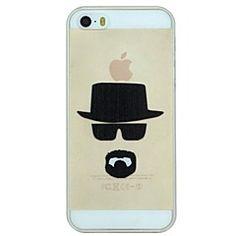 lunettes de capitalisation et le modèle barbe pc dur transparent cas de couverture pour iphone 5 / 5s