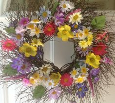 Harlequin Spring Wildflower All Weather Door Wreath Wreaths For Door,http://www.amazon.com/dp/B00JIBV1ZU/ref=cm_sw_r_pi_dp_0Svztb00VRNN8A3R