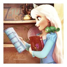 """374 Likes, 32 Comments - @hashtagtangled on Instagram: """"- ❝And so I'll read a book Or maybe two or three❞ 📚 - Inspired by the bæ @frozenroyals 😚 - This…"""""""