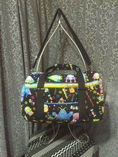 Greetings Earthlings Duffle bag by ChileBugBoutique on Etsy